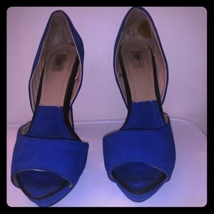 Royal Blue Suede Zara Collection Pumps, 8 1/2